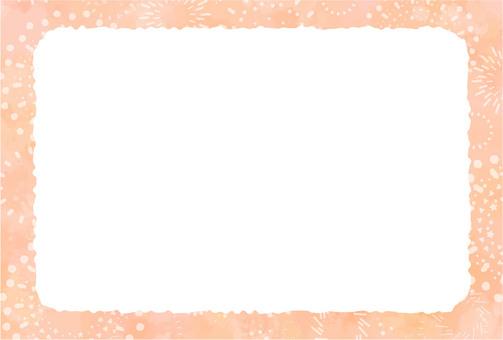 橙色水彩背景框架