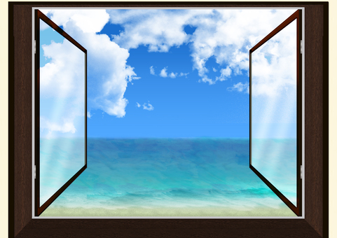 大海從雙層玻璃窗向外蔓延