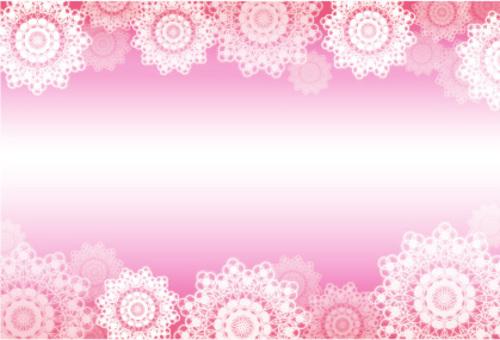蕾丝友好礼品留言卡(粉红色)