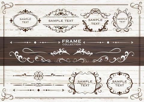 復古風格裝飾框架03