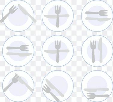 簡單的刀叉板
