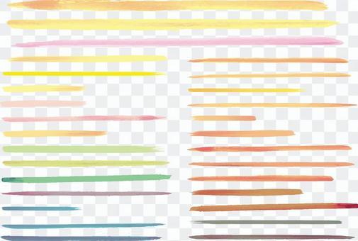 水彩繪圖手寫的線描素材集淡色