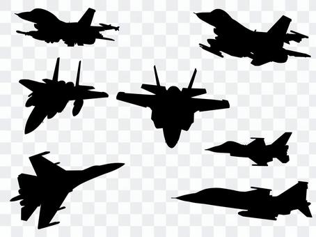 Airplane silhouette 2