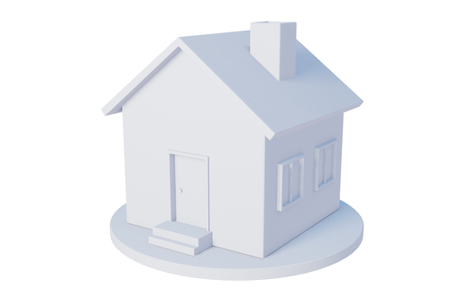 A simple house made with CG