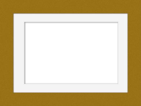Chirimen 圖案相框和白色啞光相框
