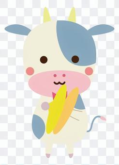シンバルを演奏する牛さん