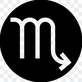 Scorpio mark circle icon