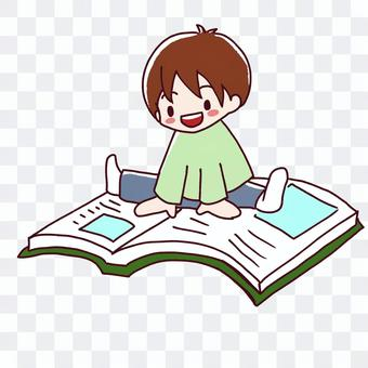 Boy interested in books