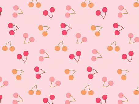 三色櫻桃的背景材料