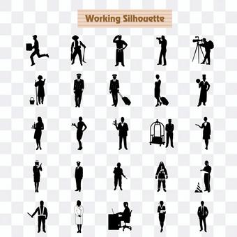 Silhouette at work