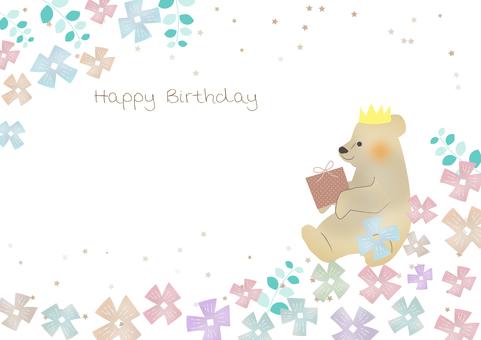 Cute birthday background_bear 1