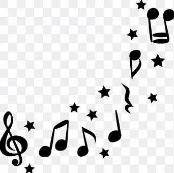 Cute music notes-black and white