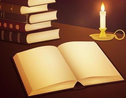 蠟燭光和舊書