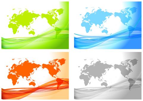 多彩的數字世界地圖背景集