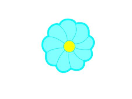 Light blue flower mark icon