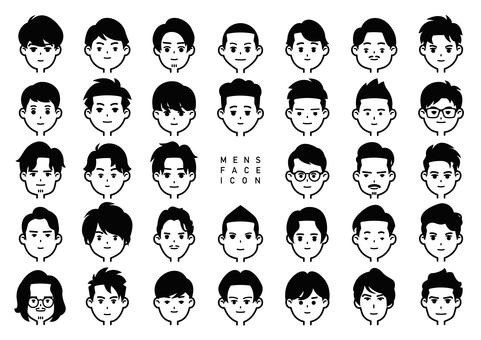 Men's face icon