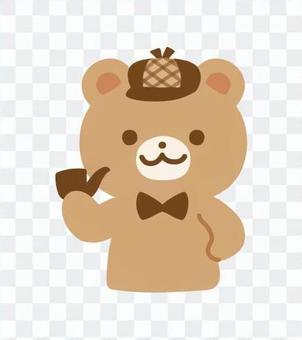 クマの探偵キャラクター
