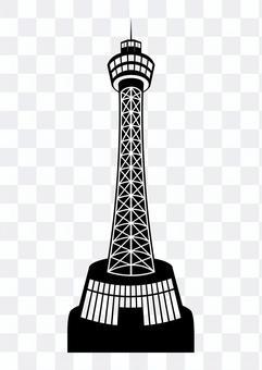 橫濱海洋塔剪影