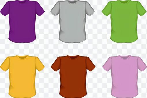 Tシャツ シャツ 肌着 無地 紫 黄緑