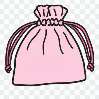 可愛的束帶袋(彩色)
