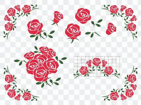 Rose flower set