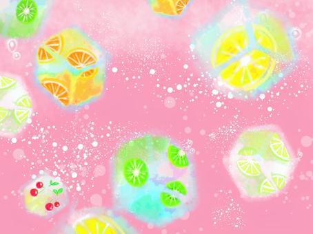 桃蘋果酒水果冰