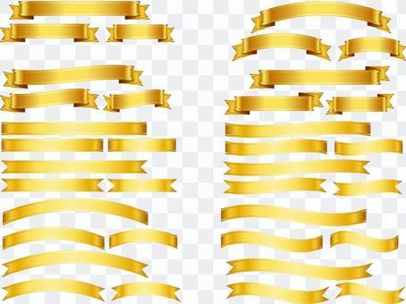 ai飾り・リボン帯金色36点セット