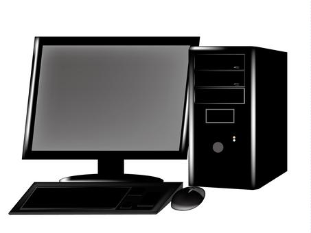Desktop computer black