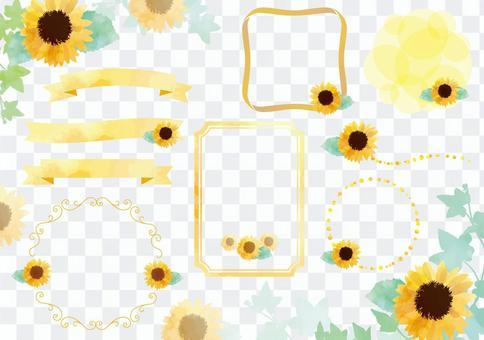 Sunflower frame set