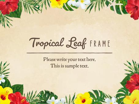 Tropical leaf frame 03