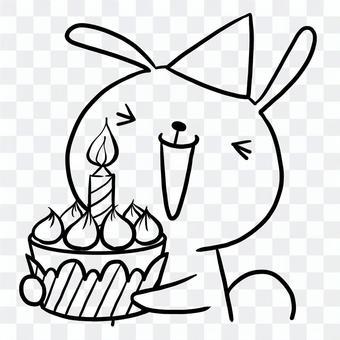 生日生日蛋糕兔子圖畫