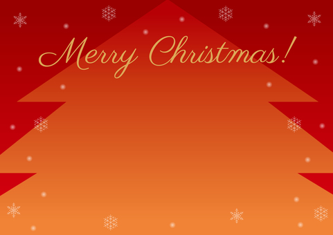 Christmas tree frame background red