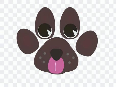 設計狗足跡狗臉樣式