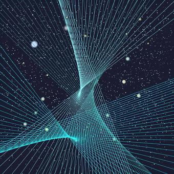線交叉扭曲空間外層空間