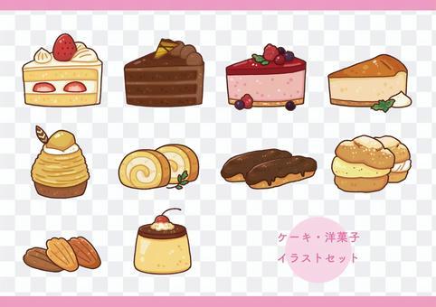 蛋糕/糕點插圖集