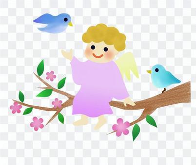 天使和小鳥3
