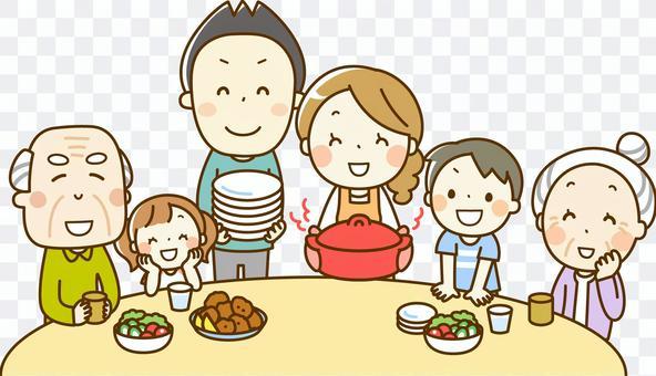 全家人用餐
