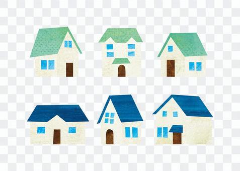 Green roof no. / Blue roof no.