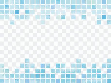 水彩般的瓷磚狀材料藍色