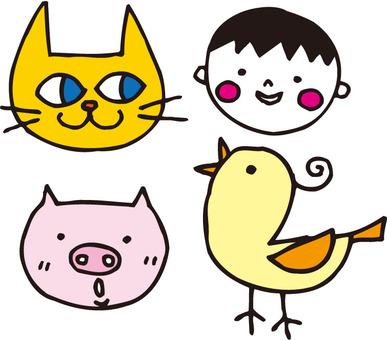 Cat pork birds and me