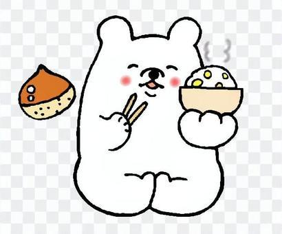 吃板栗米飯