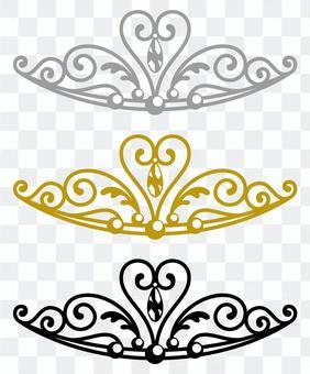皇冠(簡單的3種顏色)