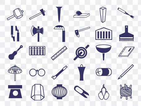 日本圖案圖標工具,日用品