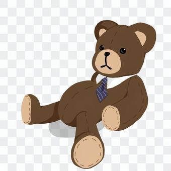 懶惰的泰迪熊