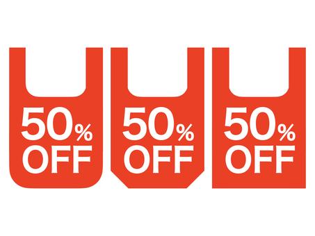 50% OFF Mark set: Bag B: Red