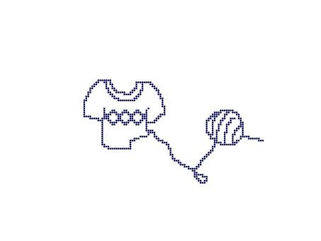 Knitting sweater yarn ball