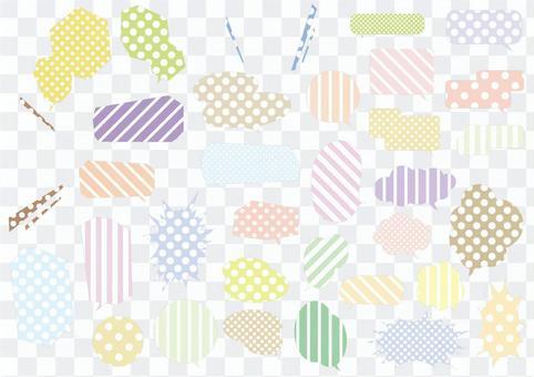 Bubble color pattern
