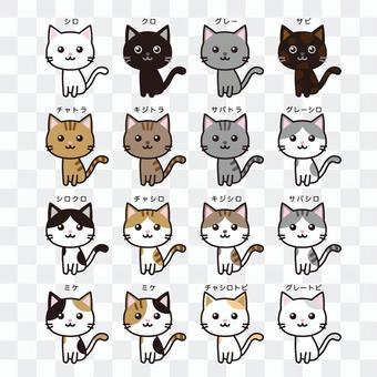猫の種類(全身)まとめ