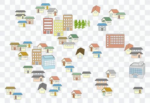 地図用建物、ハウス
