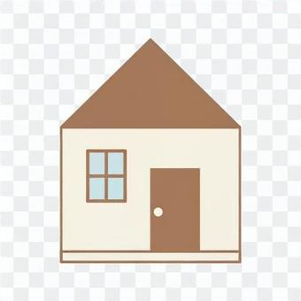 Image of a detached house (simple)
